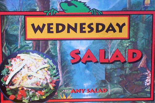 Wana Iguana Fresh Baja Grill Wednesday Special